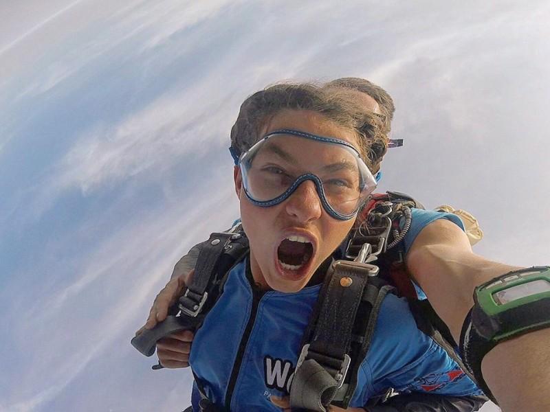 Salto de paraquedas com foto e vídeo