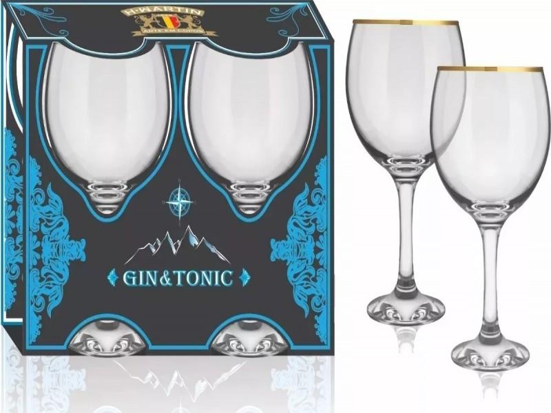 Taças Para Gin Tônica Filete Ouro